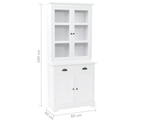vidaXL Kredens 4-drzwiowy, MDF i drewno sosnowe, 80x40x180 cm[10/10]