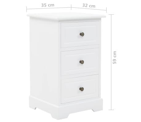 vidaXL Noptieră, MDF și lemn de pin, 35 x 32 x 59 cm[9/9]