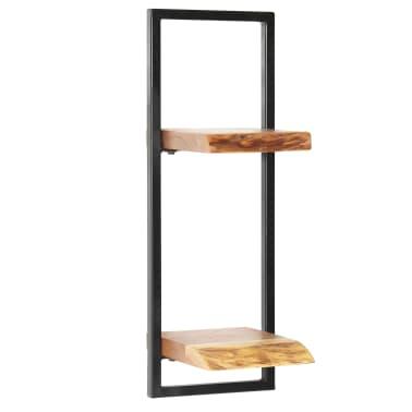 vidaXL Wandregal-Set 5-tlg. Massives Akazienholz und Stahl[6/13]
