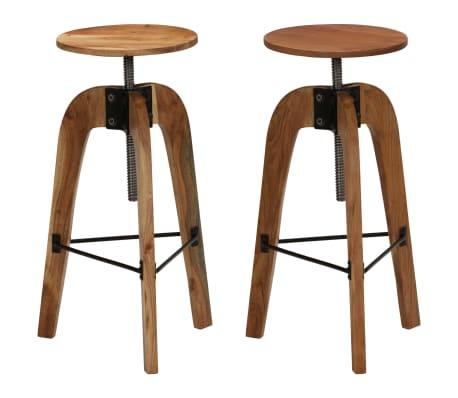 vidaXL Barové stoličky 2 ks masívne akáciové drevo 30x(58-78) cm[1/13]