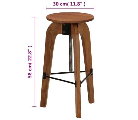 vidaXL Barové stoličky 2 ks masívne akáciové drevo 30x(58-78) cm[13/13]