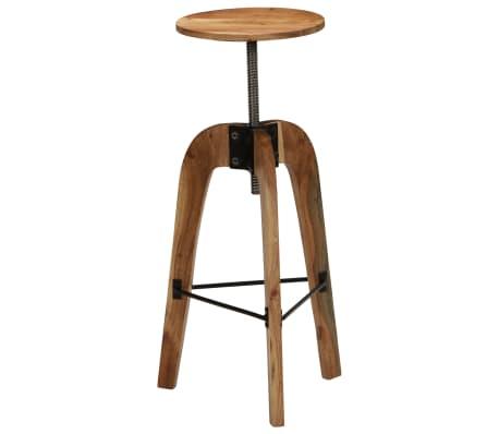 vidaXL Barové stoličky 2 ks masívne akáciové drevo 30x(58-78) cm[5/13]