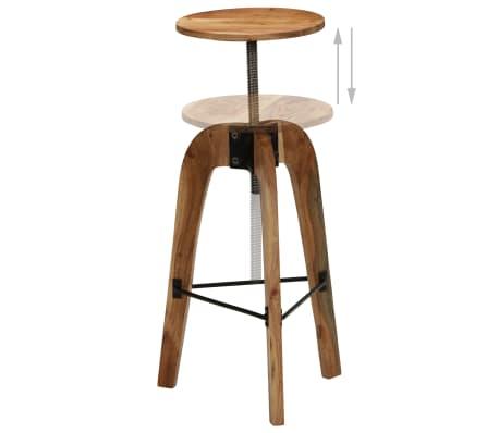 vidaXL Barové stoličky 2 ks masívne akáciové drevo 30x(58-78) cm[6/13]