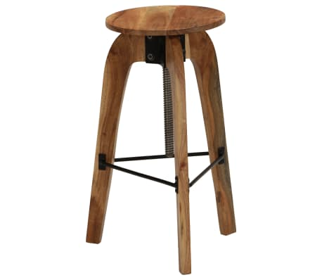vidaXL Barové stoličky 2 ks masívne akáciové drevo 30x(58-78) cm[9/13]