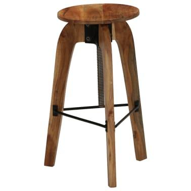 vidaXL Barové stoličky 2 ks masívne akáciové drevo 30x(58-78) cm[12/13]
