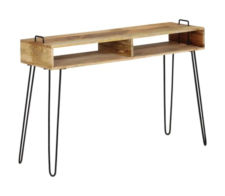 vidaXL Konsolinis staliukas, mango medienos masyvas, 115x35x76cm[1/11]