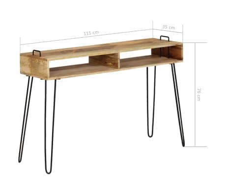 vidaXL Konsolinis staliukas, mango medienos masyvas, 115x35x76cm[7/11]