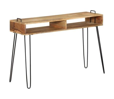 vidaXL Konsolinis staliukas, mango medienos masyvas, 115x35x76cm[8/11]
