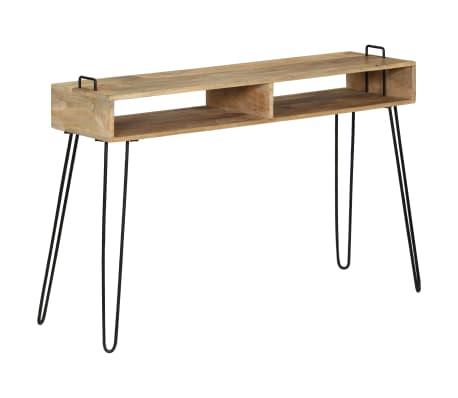 vidaXL Konsolinis staliukas, mango medienos masyvas, 115x35x76cm[9/11]