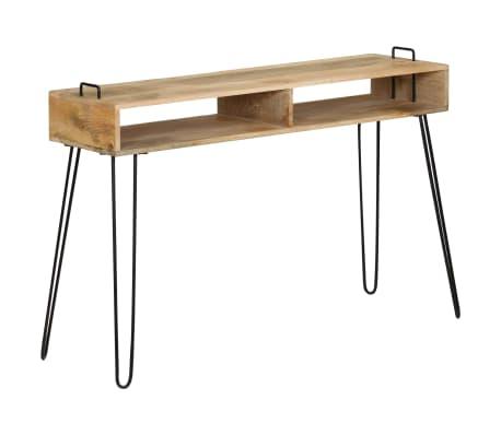 vidaXL Konsolinis staliukas, mango medienos masyvas, 115x35x76cm[10/11]