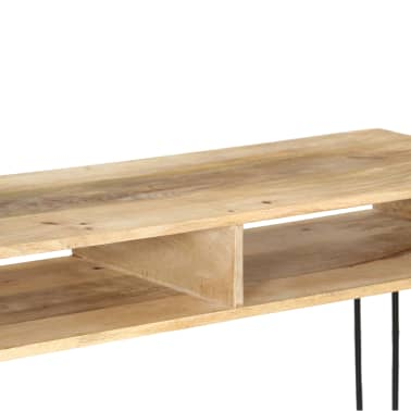 vidaXL Konsolinis staliukas, mango medienos masyvas, 115x35x76cm[5/11]