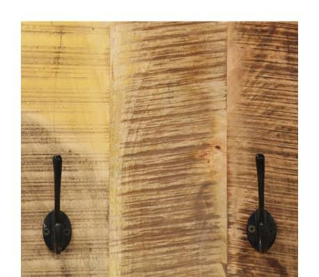 vidaXL Wandgarderobe 2 Stk. Massives Mangoholz 36x110x3 cm[5/12]