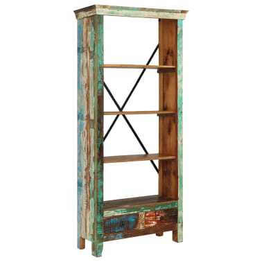 vidaXL Bookcase Solid Reclaimed Wood 80x35x180 cm[1/12]