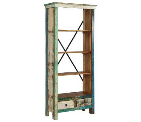 vidaXL Bookcase Solid Reclaimed Wood 80x35x180 cm[2/12]