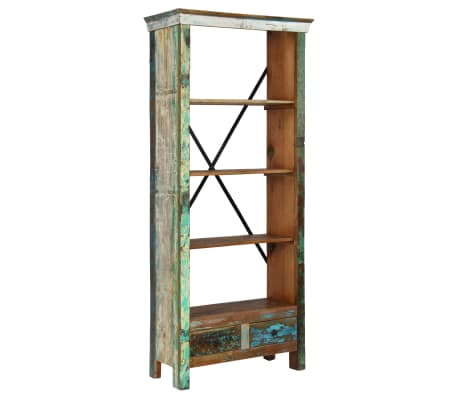 vidaXL Bookcase Solid Reclaimed Wood 80x35x180 cm[10/12]