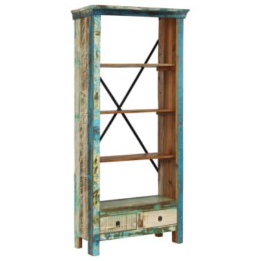 vidaXL Bookcase Solid Reclaimed Wood 80x35x180 cm[11/12]