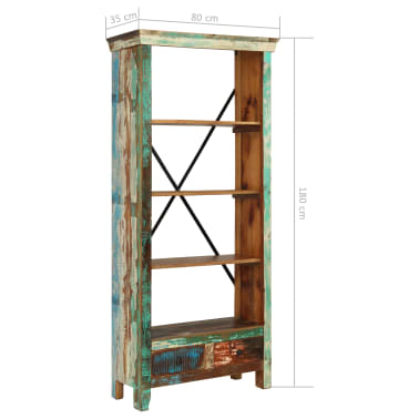 vidaXL Bookcase Solid Reclaimed Wood 80x35x180 cm[12/12]