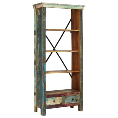 vidaXL Bookcase Solid Reclaimed Wood 80x35x180 cm[9/12]