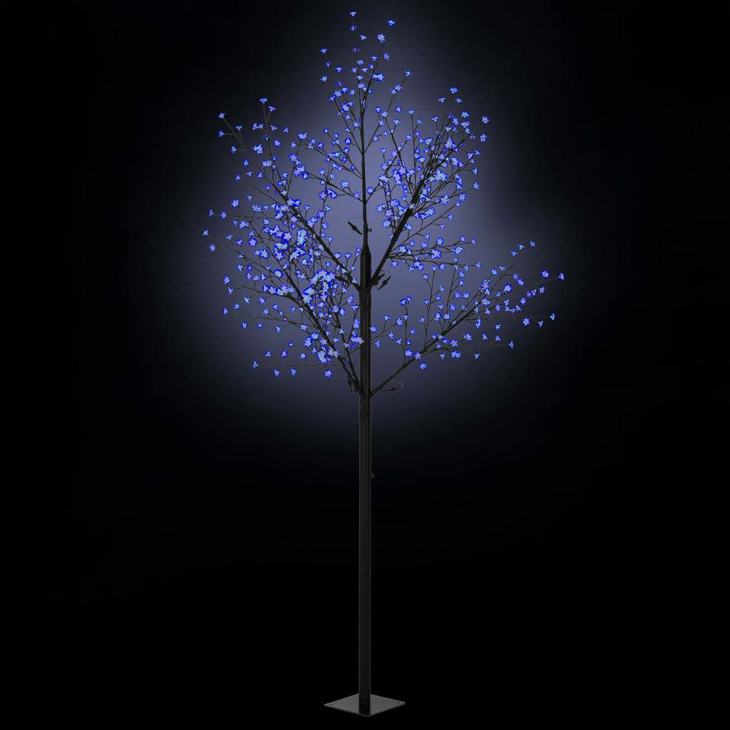 vidaXL Pom Crăciun LED-uri, interior exterior IP44 300 cm Albastru imagine vidaxl.ro