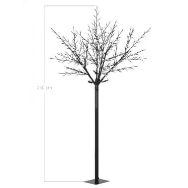 vidaXL LED-Lichterbaum Weihnachten Indoor Outdoor IP44 250 cm Warmweiß[8/8]