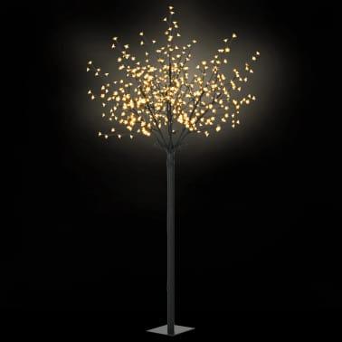 vidaXL LED-Lichterbaum Weihnachten Indoor Outdoor IP44 250 cm Warmweiß[1/8]