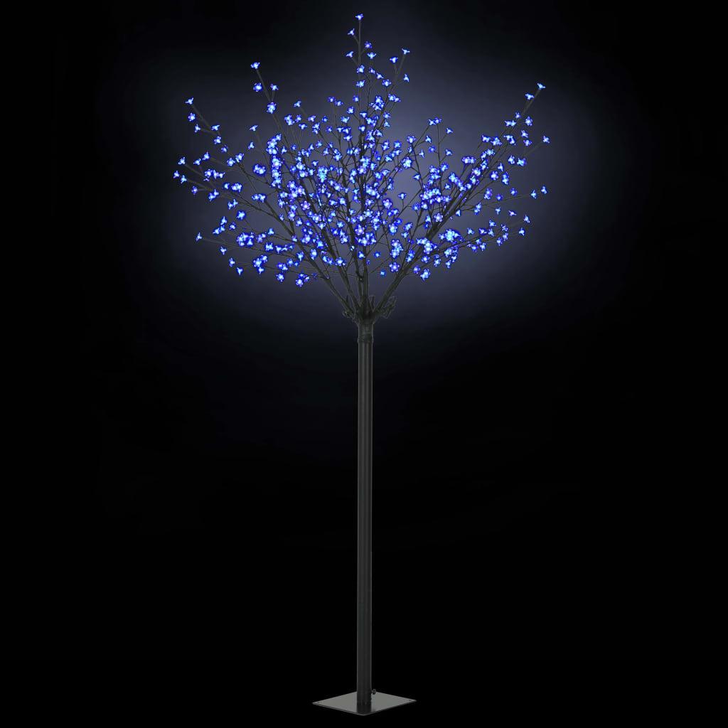 vidaXL Pom Crăciun LED-uri, interior exterior IP 44 250 cm Albastru imagine vidaxl.ro