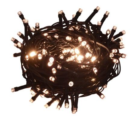 Tira de luces con 400 LEDs 40 m 8 efectos de luz IP44 blanco cálido