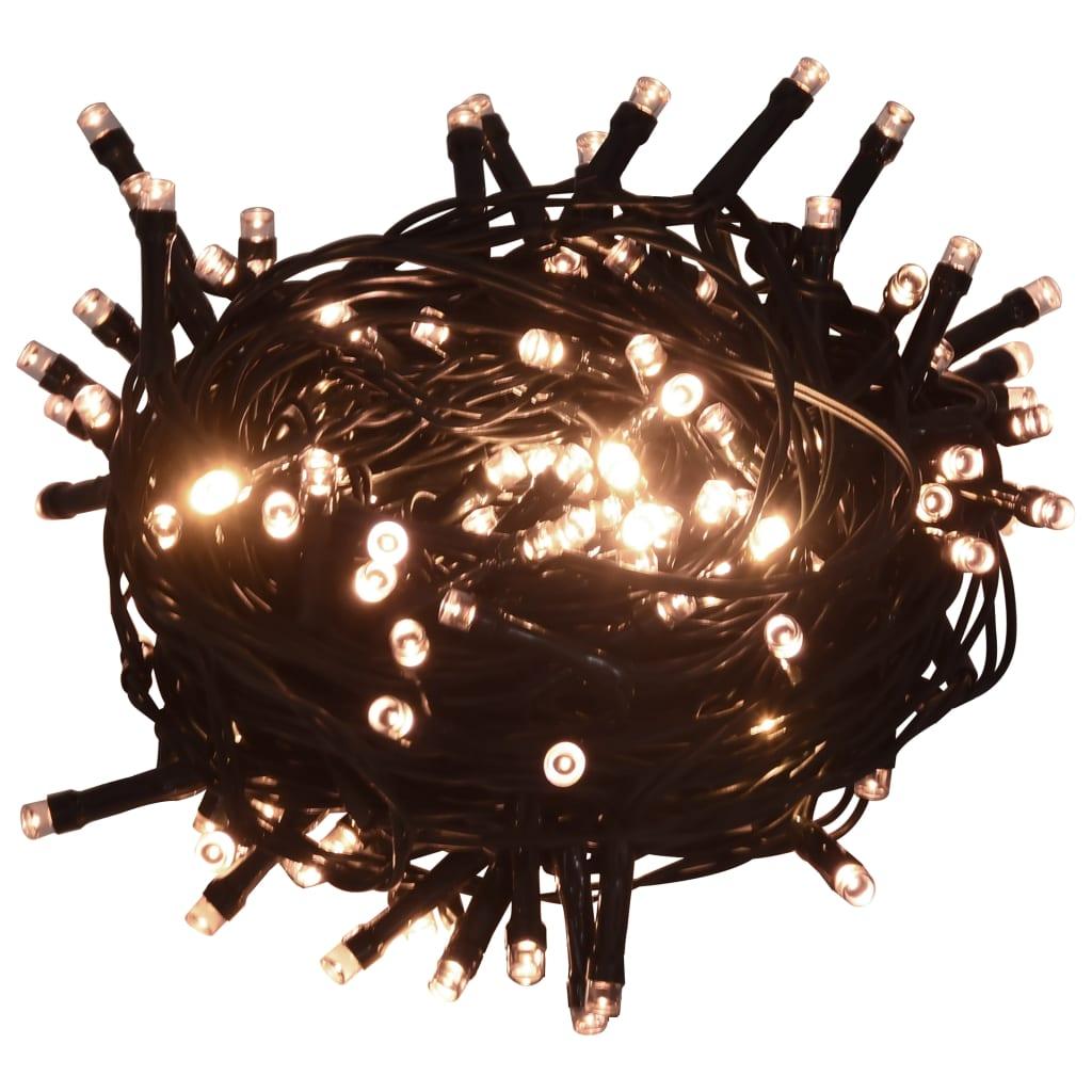 Instalație lumini cu 600 LED-uri 60 m 8 efecte de lumină IP44 alb cald vidaxl.ro