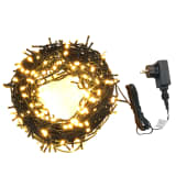 Lichtsnoer met 600 LED's met 8 lichteffecten IP44 60 m warm wit