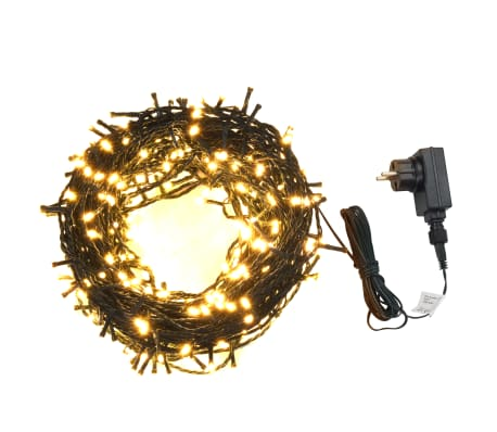 Tira de luces con 1000 LEDs 100 m 8 efectos de luz IP44 blanco cálido