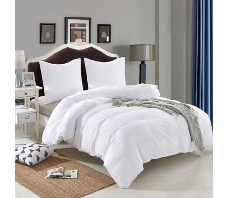 vidaXL Set husă pilotă, 4 piese, alb, 155x220/80x80 cm[2/4]