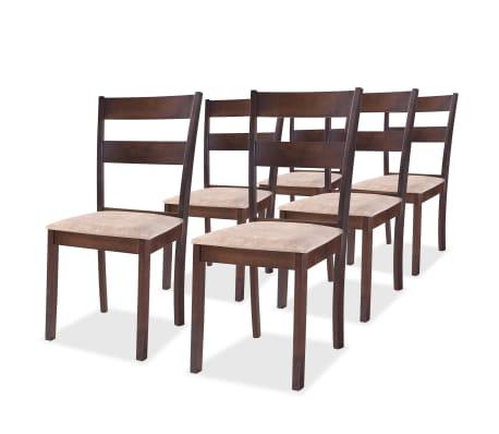 vidaxl esszimmerst hle 6 stk gummibaumholz braun g nstig kaufen. Black Bedroom Furniture Sets. Home Design Ideas