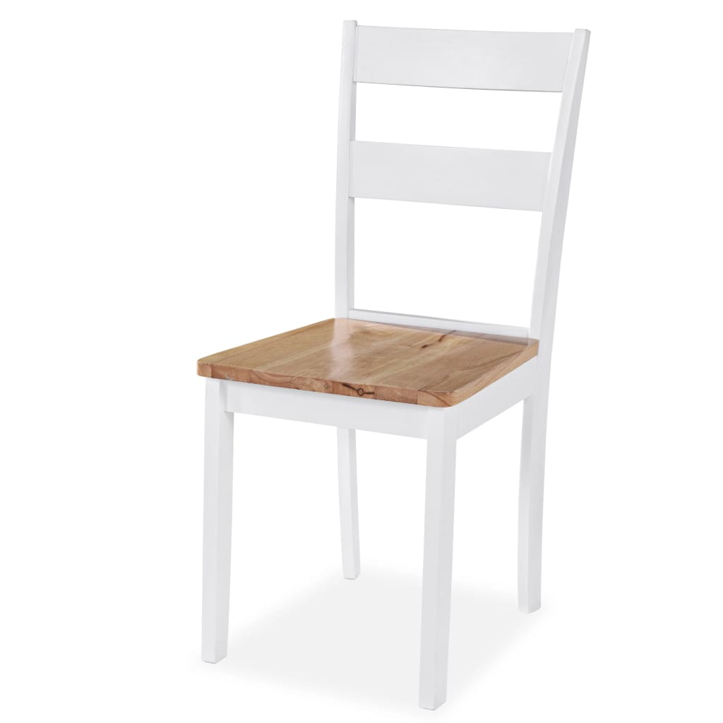 vidaXL Dining Chairs 6 pcs Rubberwood White For Sale in Uk ...