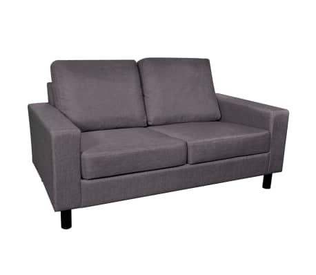 vidaXL Set de canapele 5 persoane, 2 buc, Material textil Gri închis[6/11]