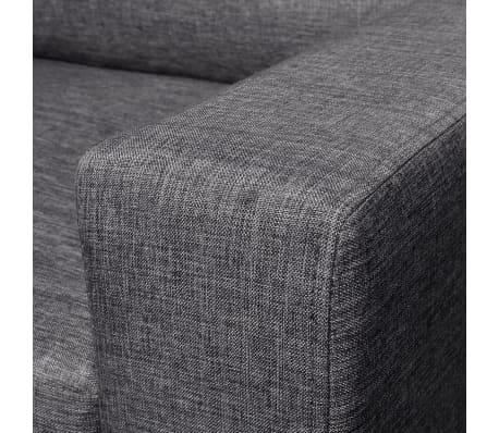 vidaXL Set de canapele 5 persoane, 2 buc, Material textil Gri închis[9/11]