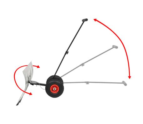 vidaXL manuel snerydder med hjul 100 x 44 cm[3/5]