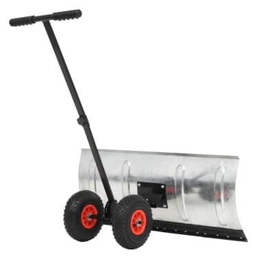 vidaXL manuel snerydder med hjul 100 x 44 cm[2/5]