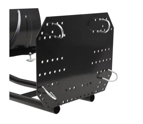 vidaXL Chasse-neige pour VTT 150 x 38 cm Noir[9/11]