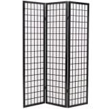 vidaXL 3 paneles, fekete, japán stílusú paraván 120 x 170 cm