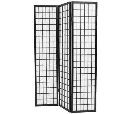 "vidaXL Folding 3-Panel Room Divider Japanese Style 47.2""x66.9"" Black[3/6]"