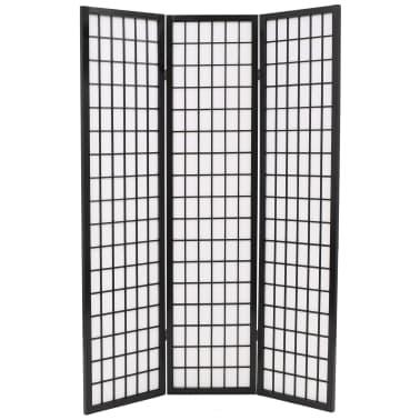 "vidaXL Folding 3-Panel Room Divider Japanese Style 47.2""x66.9"" Black[2/6]"