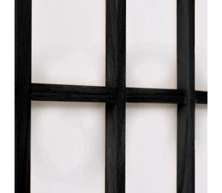 vidaXL 5tlg. Raumteiler Japanischer Stil Klappbar 200 x 170 cm Schwarz[5/6]