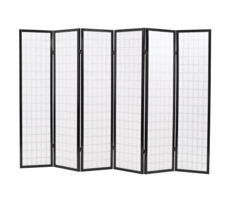 vidaXL foldbar 6-panels rumdeler japansk stil 240 x 170 cm sort[4/6]