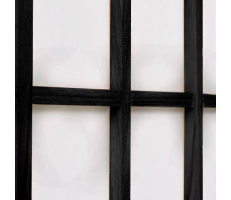 vidaXL foldbar 6-panels rumdeler japansk stil 240 x 170 cm sort[5/6]