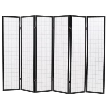 "vidaXL Folding 6-Panel Room Divider Japanese Style 94.5""x66.9"" Black[4/6]"