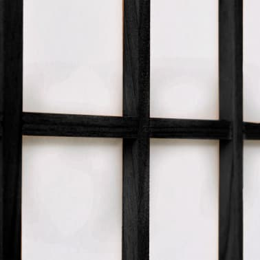 "vidaXL Folding 6-Panel Room Divider Japanese Style 94.5""x66.9"" Black[5/6]"
