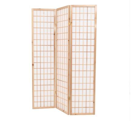 "vidaXL Folding 3-Panel Room Divider Japanese Style 47.2""x66.9"" Natural[3/6]"