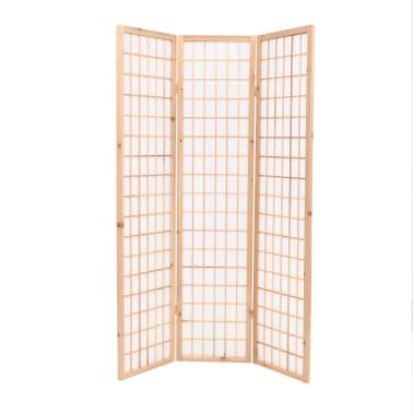 "vidaXL Folding 3-Panel Room Divider Japanese Style 47.2""x66.9"" Natural[2/6]"