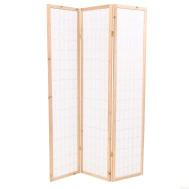 "vidaXL Folding 3-Panel Room Divider Japanese Style 47.2""x66.9"" Natural[4/6]"