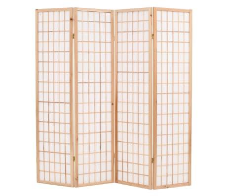 "vidaXL Folding 4-Panel Room Divider Japanese Style 63""x66.9"" Natural[1/6]"